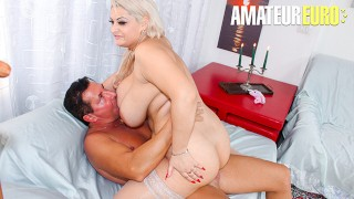 ScambistiMaturi - Huge Tits Romanian MILF Hardcore Pussy Fuck With Old Stud