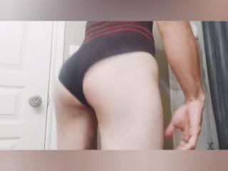 Gay pantyboy booty...