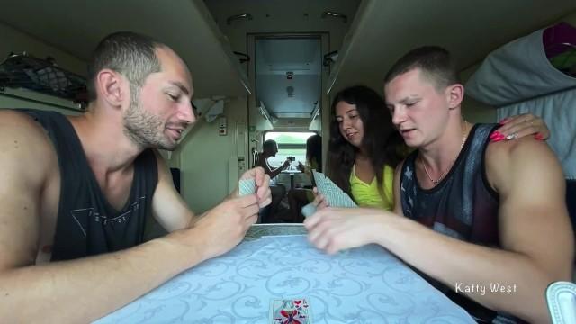 Куколд проиграл жену в карты и смотрит как её ебут в поезде 14