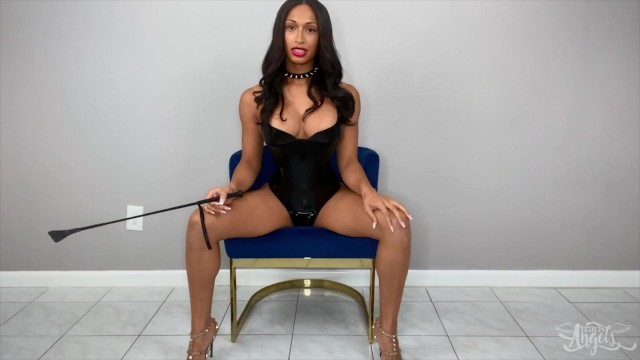 TransAngels - horny Jasmine Lotus giving you orders while she strips for you
