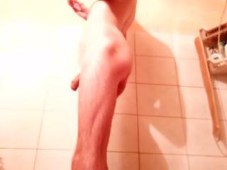 Guy shaves groin balls...