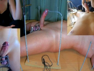 Amateur Femdom CFNM. I Ruined his Orgasm with Tease and Denial Handjob with my new Ball Crusher. POV
