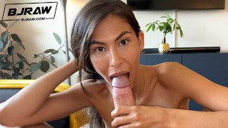 Screen Capture of Video Titled: BJRAW Heather Vahn is cock thirsty