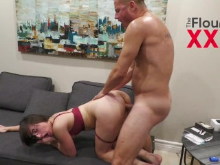Danny Mountain gonzo with amateur Angeline Red