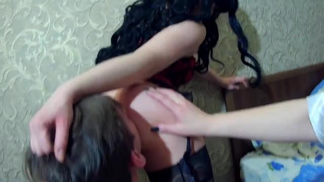 Two sluts dominate a guy. 34