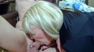 Two sluts dominate a slave guy.