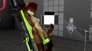 lana squirts and cums on poking machine ft. voice acting from nebula – second life yiff