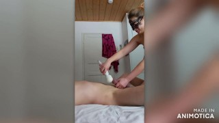 Wife tied her naughty hubby and used him as a dildo -Villivallaton