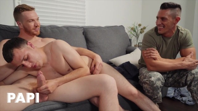 Papi - Jax Is Looking For Hot Men To Pass Around His Army Buddies & Found Jesse Avalon & Dacotah Red