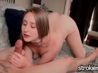 Strokies - Laney Grey Shares a Very Naughty Handjob Treat
