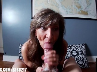 Sexy Granny Sucks Multiple Cumshots From A Happy Dick