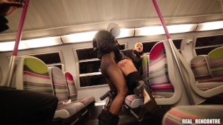 Ukrainian Tourist Gets Fucked On The Train By 2 Strangers: Squirt on the platform and at the hotel !