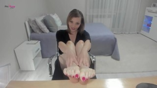 Converted my toe sniffing bitch into taking cock