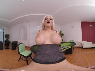 VR BANGERS Quick Game To Win Best Fucking With Busty Blonde From Czech VR Porn