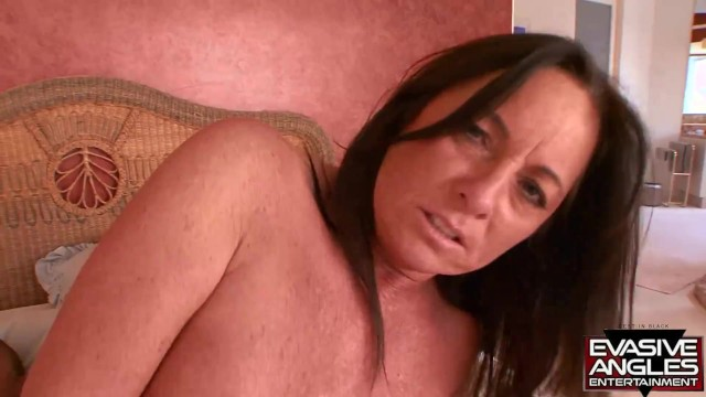 EVASIVE ANGLES Busty Brunette Sucks and Fucks a Hung Black Stud 17