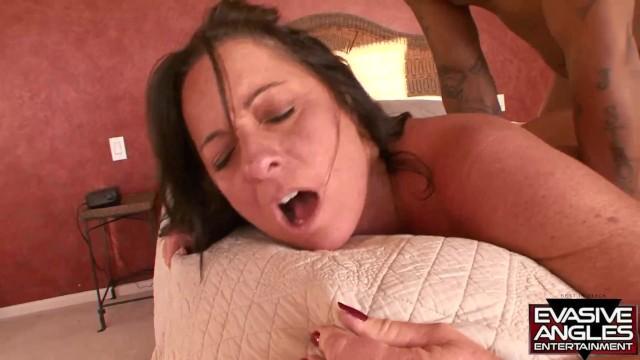 EVASIVE ANGLES Busty Brunette Sucks and Fucks a Hung Black Stud 35
