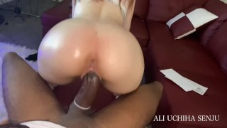 Has His HUGE 10 INCH DICK Milked By Rich White Slut BBC WORSHIP !