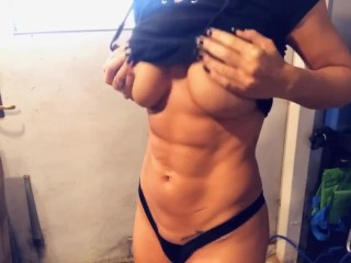 Abs punching and flexing
