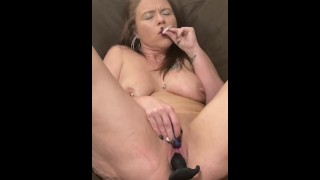 AlisonAuraAllen Milf cums fingering and toy fucking pierced wet ass pussy and ass while smoking