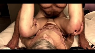 Hot Mature MILF Pussy Pounded in Doggy & Missionary Begs For Cum Then Cleans Cock