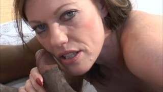 Holly shows her way of sucking a BBC