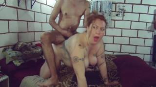 BBW Redhead High Heels Fetish Anal Fuck Deepthroat Ponygirl Intense Female Orgasm