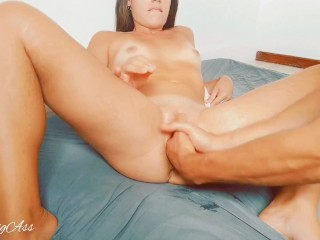 Fisting double 2 hands on my little pussy, mini squirt my pussy destroy -aprilbigass-