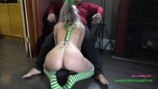 Dirty talking Blonde slutwife sucks and fucks on St patricks day