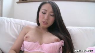 Japanese MILF, Aya Shiina is masturbating, uncensored