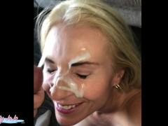 Public cumwalk big facial-Joanna Meadow...