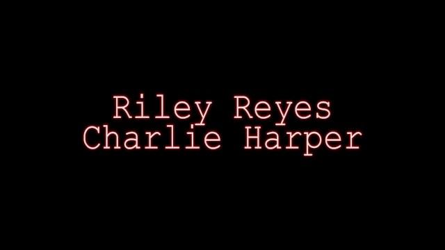 Slender Charlie Harper And Riley Reyes Give Double BJ! POV! 16