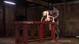 Fuck me on the table! Black man fucks hard a sexy college girl