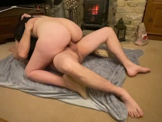 Passionate Sex In Front Of The Fire