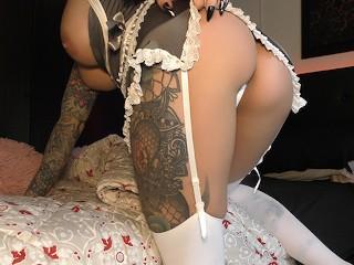 Maid finds secretly masturbates...