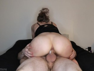 He eats mypussy so good I let him cum inside me, leg shaking orgasm, dripping creampie