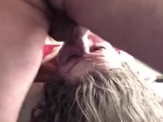 Mature hot cougar rough upside down deepthroat gagging...