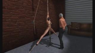 BDSM: Bondage Club Hotty in Pantyhose