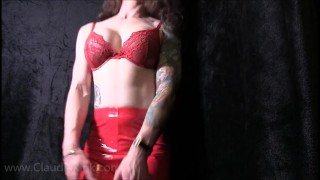Trailer: Red PVC Ass Worship POV