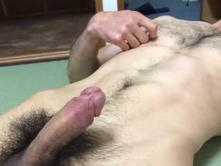 Intense hairy guy orgasm fit...