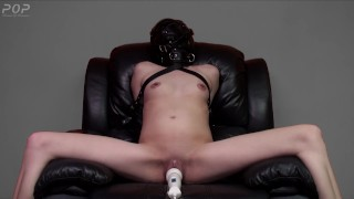 Made to Squirt - A small sexy slave girl made to orgasm & squirt on a wand while in bondage