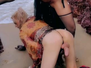 Ass transvestite ocean...