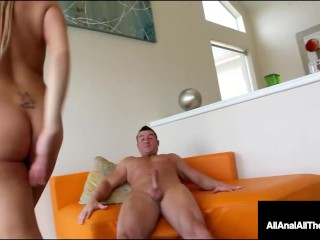 Ass Banged Blonde Jessica Nyx Leaks Cum Out Of Her Butthole!