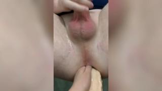 Husband cum anally on my huge strapon femdom strapon