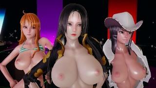 [MMD] Girl's Day - Expectation Nude Dance Boa Hancock Nami Nico Robin One Piece Sexy Kpop Dance