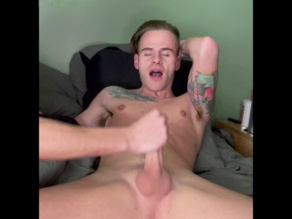 Young hung edged milked by straight guy huge...