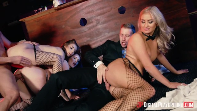 Digital Playground – Orgy In A Bar With Xander, Danny, Sainz, Cayla Lyons & ...