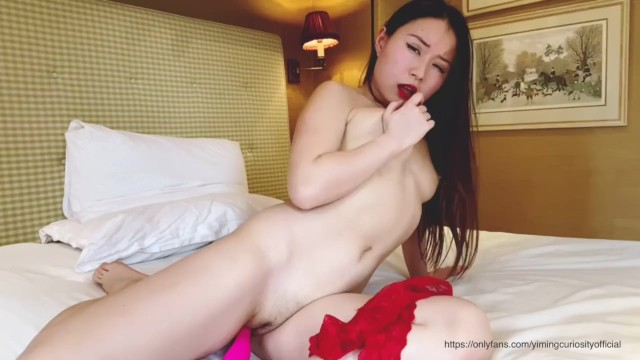 I need you to come over and fuck me now! -YimingCuriosity Asian Chinese big ass pink pussy long hair