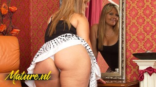 Curvy Blonde MILF Riona Is Horny Ass Hell!
