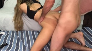 blonde calls for sex sits tasty and takes cumshot in the face