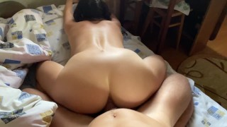 horny girl get fucked in pussy and ass